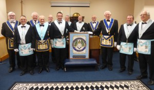 Painting of our Lodge Banner - with lodge members
